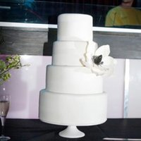 Black And White there are white luster dust ribbons on the cake in different sizes on each layer. I was disappointed that the photographer didn't get...