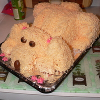 "Puppy Cake I made this for my twins a few years ago (they requested a ""blonde puppy cake""), using a tutorial on this site; however, I don&#..."