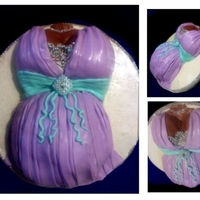 Baby Bump Fashionista Small Cake - Serves 8 covered in fondant.