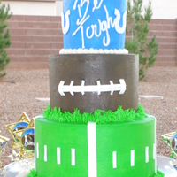 Go Colts! This was for the end of the season party for my sons flag football team. All butter cream with fondant accents. The saying on the top was...