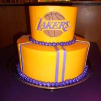 Lakers 2011 All butter cream with fondant accents.