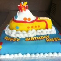 Yellow Submarine Fondant Yellow submarine