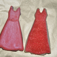 Red Dress   Working on some holiday dress cookies