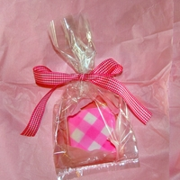 Pink Gingham   Loved seeing a Gingham cookie onglorious treats blog, so, I tried my hand at making one myself. It was fun.