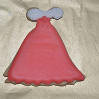 Holiday Dress   With all of the beautiful dress cookies I have seen I was inspired to make one of my own