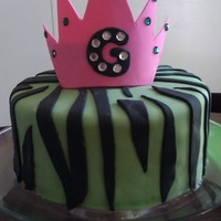 Not Your Average Princess Cake Marble cake fondant decorations, gumpaste crown