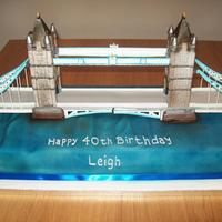 3 Foot Long Tower Bridge Cake 3 foot long Tower Bridge cake