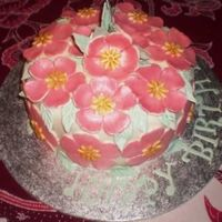 Fruit Cake With Fondant Icing And Flowers Fruitcake, fondant icing, painted fondant flowers and leaves