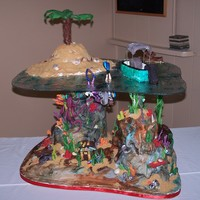 Under The Sea This cake was done for a wedding. It is all edible except the water and the divers. It was 160 servings.
