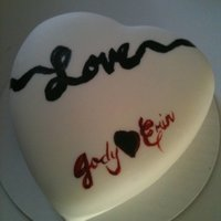 Happy Valentines Day RV cake with bc icing covered in mmf and painted with americolor colors