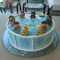Swimming Pool Swimming pool cake for my daughter's swim party.