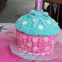 First Birthday Giant Cupcake