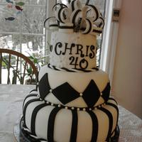 Black And White Birthday Cake Black and white Birthday cake
