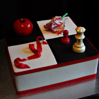 Twilight   Fondant ,gumpaste decorations and Chocolate Chess pieces.