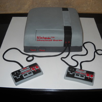 Nintendo Cake   This was a cake I made for my sister in law.