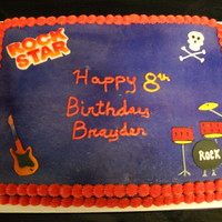 Rock Star   Rock Star cake for little boy.