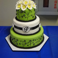 Calla Lilies   This was a wedding entry in the 2011 Icing on the Cake competition in Shreveport. It came in 3rd place.