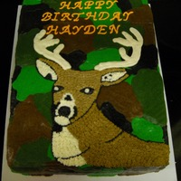Deer Head   Cake for a little boy who loves deer.