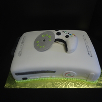 "X Box Groom's Cake I did this as a gift to the groom. My son's told me to use ""the red ring of death"" as the push button signal vs. the green...."