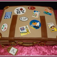 Luggage For Anne Made for a lady who has traveled to more places than I could represent on this cake! My son did all the artwork on the patches as I am a...