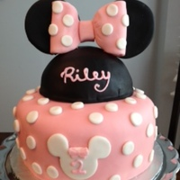 Minnie Mouse Cake My attempt at a Minnie Mouse birthday cake for my sweet little 2 year old. Thanks for looking!