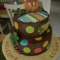 Baby Shower Cake chocolate everything :)