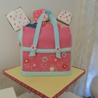 Purse Cake carrot cake with cream chesse fill..fondant topped