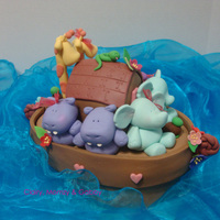Corlyn Sophia's Noah's Ark Cake! This is a cake made for my niece, Corlyn's Christening. I love the girl snake the most! December 2010.