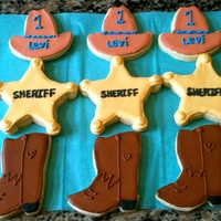 Western Sugar Cookies Cowboy hat, Sheriff badge, Cowboy boots sugar cookies