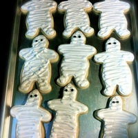 Halloween Mummy Sugar Cookies Halloween Mummy Sugar Cookies