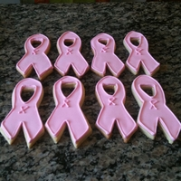 Cure For Cancer Pink Ribbon Sugar Cookies Cure for Cancer Sugar Cookies