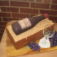 Wine Bottle Cake Chocolate wine bottle