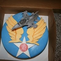 Army Air Corps I was honored to make this cake for a service man that was retiring after 25 years of service.