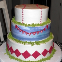 Baseball Grad   For a young man's high school....He's a die hard baseball fan.Whipped frosting.