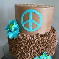 Peace, 70S   choc. whipped frosting
