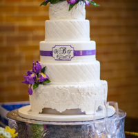 Iris And Lace Wedding Cake Iris and Lace Wedding Cake