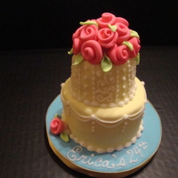 Mini Flower Birthday This was a mini cake that I made for a very close caker friend. Just to give an idea on size, the board is 5in in diameter. I had a great...