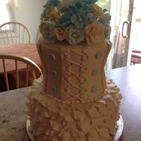 Victorian Bridal Shower Cake TFL
