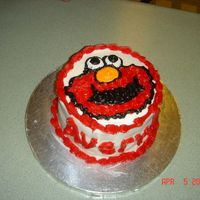Avery's 1St Birthday- Elmo Smash Cake! French Vanilla with Butter Cream!
