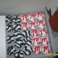 Zebra Cupcakes And Initial Cupcakes! Half French Vanilla and half chocolate fudge, half zebra and half with the Initial.