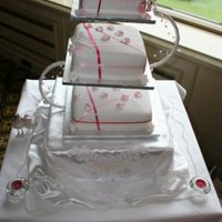 Latest Wedding Cake For A Friend Who Loves Pink She Asked For The Ribbons To Be Cris Crossed   latest wedding cake for a friend who loves pink she asked for the ribbons to be cris crossed -