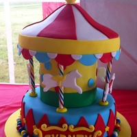 Merry Go Round Cake For A Carnival Themed Birthday Party   Merry go round cake for a carnival themed birthday party.