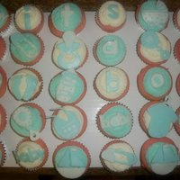 Baby Boy its a boy cupcakes..each have somthing on them..butter cream with fondant pieces