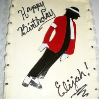 Michael Jackson Michael is made out of fondant. Buttercream icing