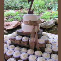 "Cake Cups I call these a more ""civilized"" cupcake - eaten with a fork. Straight sided plastic cups can be easily decorated with ribbon or..."