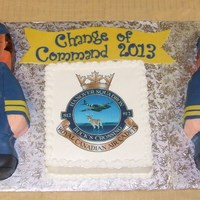 "Air Cadet Officers I used the ""Wilton graduate"" cake pan for the Commanding Officers and had to alter the shape in order to use with the uniform (..."