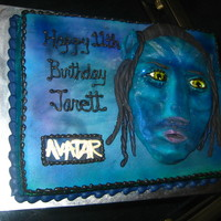 Avatar Cake This cake was a Avitar themed cake. I was trying to make a Avitar like creature. My sculpture did not come out as I had invisioned, but I...