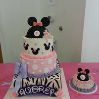 Minnie Mouse First Birthday Cake White Cake With Swiss Meringue Buttercream And Fresh Strawberries And Glaze Between Each Tier 12 Squa *Minnie Mouse first birthday cake. White cake with Swiss meringue buttercream, and fresh strawberries and glaze between each tier. 12&quot...