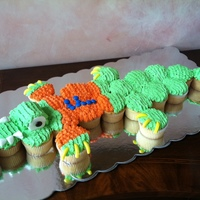 Florida Gators Cupcake Cake   Florida gators cake with buttercream