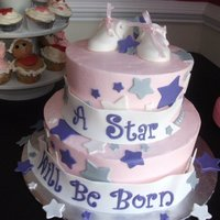 Star Baby Shower Made for a good friend of mine. I was pleased with the way the star placement turned out.